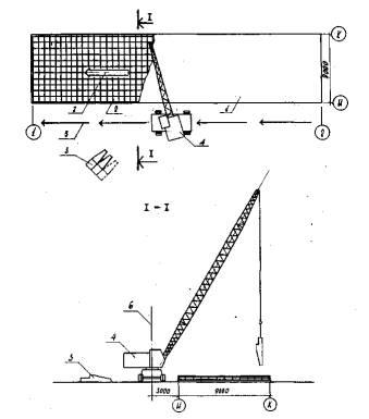 Схема бетонирования днища